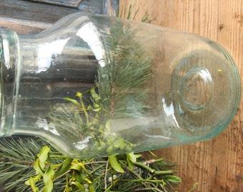 D 125 antique mouthblown glass PICKLING jar ,christmas decoration, austrian