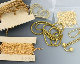 Vintage chains. Below wholesale lot. Beadwork, Jewelry making, Jewelry supply.