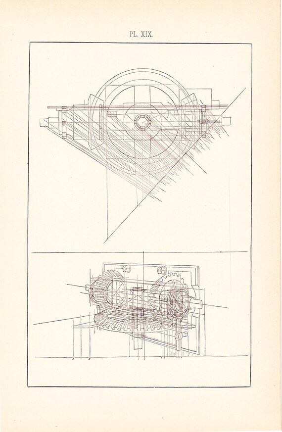 1892 technical drawing antique math geometric mechanical drafting 1892 technical drawing antique math geometric mechanical drafting interior design blueprint art illustration framing 100 years old malvernweather Gallery