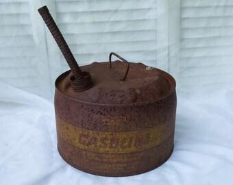 Vintage Rusty Gasoline Can