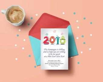 New Years Card Print Out