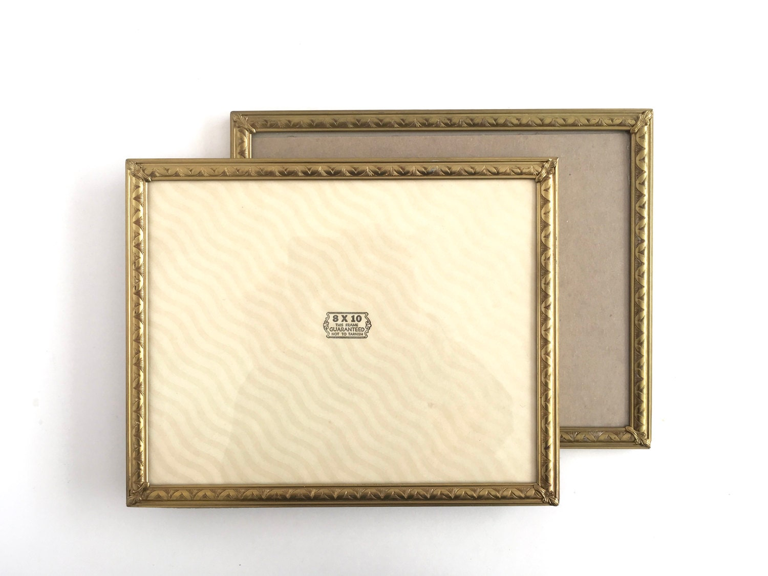 Vintage Large Brass Frames Picture Photo Ornate Gold Decorative 8 x ...