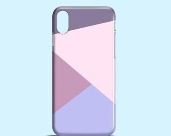 Purple Geometric phone case / lilac iPhone X, iPhone 8, iPhone 7, iPhone 7 Plus, iphone 6/6S, iPhone 5/5S / Samsung Galaxy S6, Galaxy S5