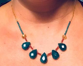 Jade drop necklace