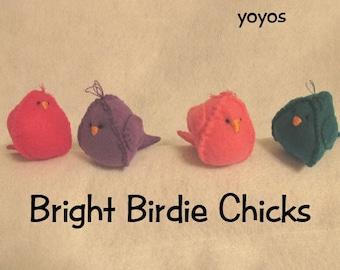 FELT BIRDS, CHICKS, Easter, Spring, Holiday Decor, Home Décor, Ornaments,  Table Decor, Nursery Decor, Shower Decor, Birthday