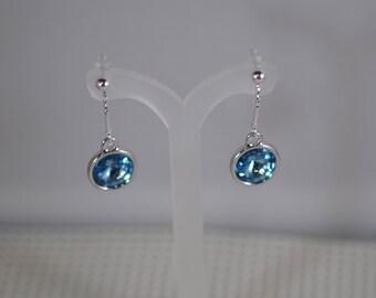 Swarovski Crystal Rivoli Earrings - Sterling Silver Findings - TierraCast Settings