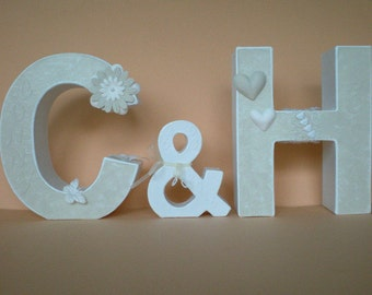 Personalized wedding gift - letter of the pair