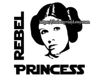 Star Wars - Leia - Rebel Princess Vinyl DIY IRON ON
