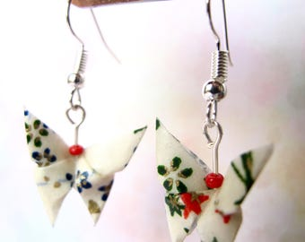 Origami butterflies paper washiCadeaux Christmas gift Christmas earrings
