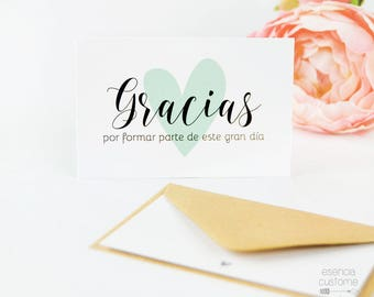 """Pack of 10 THANKSGIVING CARDS design """"heart"""""""