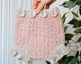 Crochet PATTERN - Petal Diaper Colver (sizes from newborn up to 2years)