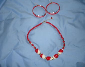 1970's Plastic Costume Jewelry Set