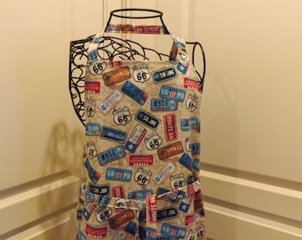 Adult Apron, Teen/Petite , Route 66