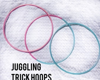"Juggling trick Hula Hoops - circus 5/8"" POLYPRO and HDPE Dance & Exercise rivited shut 3 hoops"