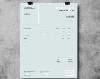 Invoice Template Invoice Design Receipt MS Word Invoice - Job invoice template word online bead stores