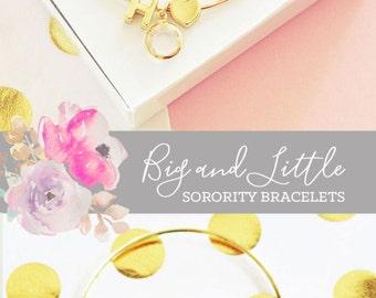 Sorority Jewelry Big Little Gifts Big Little Reveal Gift Big Little Sorority Gifts (EB3144WC) Sorority Bracelet