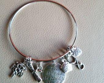Nurse RN charm bracelet