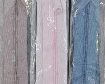 """24"""" Handbag Zipper, Tote, Purse, Wallet, Extra Wide, Assorted Colors, Zip, Closure, Bag"""