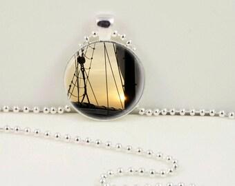 Sailboat Mast Pendant or Keychain