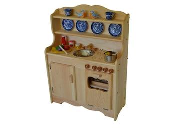 Childu0027s Waldorf Kitchen  Montessori  Wooden Play Kitchen Hardwood Toy  Kitchen  Play Kitchen  Pretend Kitchen Toy Stove Wooden Kids Stove