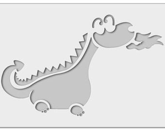 Wall stencil Dragon 0976