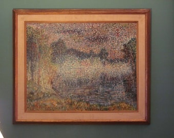 PAUL MELLIS Viennese Original Oil Painting Pointillism LANDSCAPE Pointillist