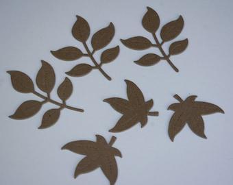 Chipboard Die Cut Leaves Set No. 1