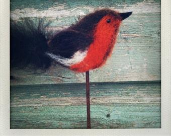 Needle felted robin kit
