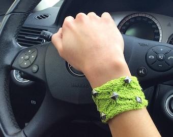 Wrist tattoo cover bracelet Trending now boho stretch cuff bracelet Knitted wrist cuffs bracelets Knit wrist bands jewelry from Greece