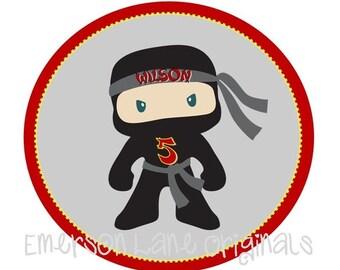 Ninja Birthday Iron On For Shirts - Ninja Birthday Party - Ninja Party Favors - Karate Birthday Party - Taekwondo Birthday Party - Ninja DIY