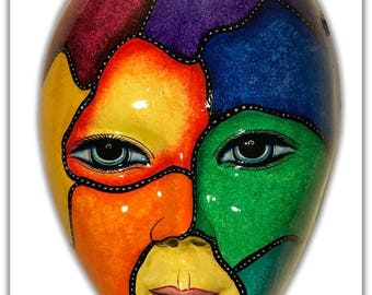 Large Hand Painted Mask - 21 Inch Mask