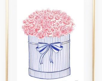 Fashion illustration print Rose