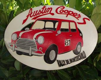 "Teaches ""Austin Cooper"" handpainted car"