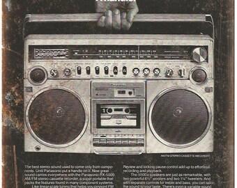 "Panasonic Boombox Ghetto Blaster 10"" x 7"" reproduction metal sign D27"