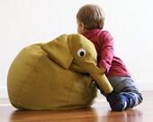 Sac de haricot éléphant jaune