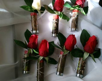 Shotgun shell boutonniere - Wedding - Funeral - Country - Redneck - Personalize to make it perfect - expedited shipping available