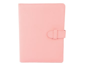 A5 Leather PadFolio / Portfolio / Note Pad Holder, Personalized, 2 inside pockets & a Cocoa Paper note pad.