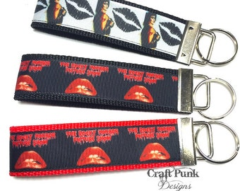 Rocky Horror Picture Show, Frank N Furter, Keychain Wristlet, Cult Classic, Keychain, Halloween, Horror Keychain, Goth