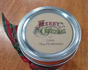 Christmas Mason Jar Labels, Labels for Mason Jars, Jam Labels, Jelly Labels, Labels for Baked Goods, Baked Goods Sticker, Christmas Labels