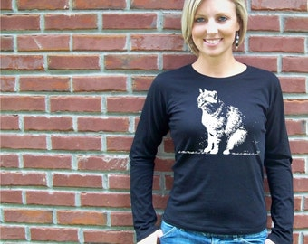 Cat shirt, graphic tee, women tshirt, girlfriend gift, cat lover gift, black cat, cat lady, rescue, crazy cat lady, RCTees, gift for her