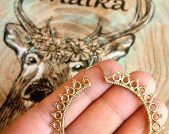Hoop Earrings, Brass Earrings, Tribal Earrings, Big hoop Earrings, Boho Earrings. Festival Earrings. Ethnic Earrings. Earrings. Big earrings