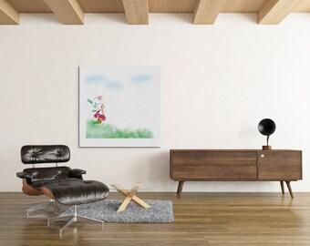 Little Fairy, modern art, nursery art, baby girl nursery, baby boy nursery, nursery prints, nursery decor, baby room decor