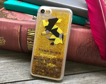 Loyal and True iPhone Castle Case, Gold Glitter