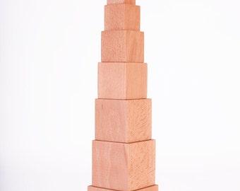 Pink Tower Montessori, Wood Blocks, Eco Friendly