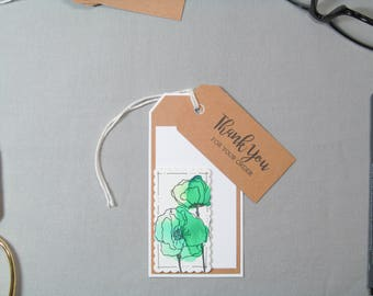 Business Thank You Tags - Small Business Tags - Watercolor Tag - Floral Tag - Handmade Seller Tags - Thank You Tags – Handmade Business Tags