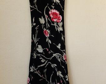Vintage 90s Scoop Neck Floral Dress - US Women's Size XS/S