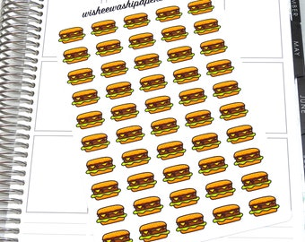 Burger Stickers - Food Stickers - Planner Stickers