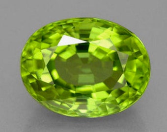 Natural Genuine Peridot AAA Oval Faceted Shape Loose Stone (4x3mm - 11x9mm)