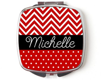 Personalized Compact Mirror - Redl Personalized Purse Mirror - Personalized Bridesmaids Gifts