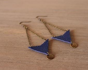 Earrings • CALI • Royal Blue / bronze